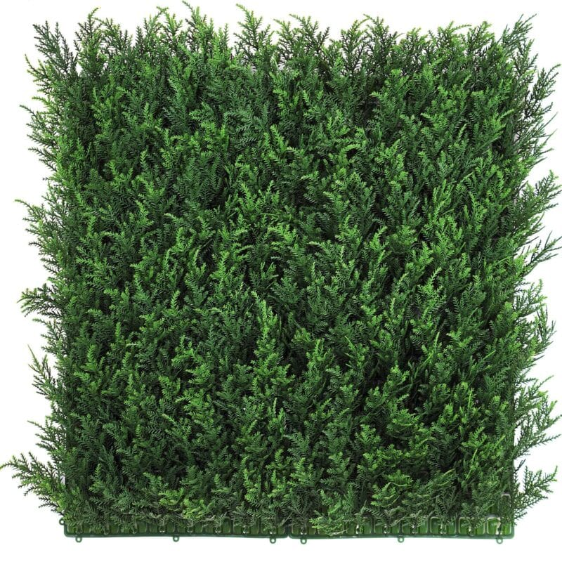 Artificial fir hedge panel