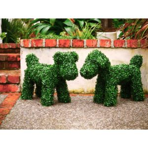 Artificial Topiary Dog